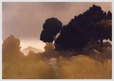Sendero dorado, 2000-2001 Óleo/lienzo. 130 x 162 cm.