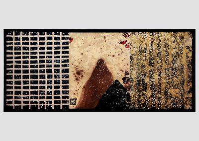 Serie Escuchando luces, 2008-2009 Técnica mixta/papel y madera. 27 x 62 cm.