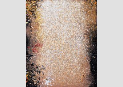 Falling VI, 2009-2010 Técnica mixta/lienzo. 100 x 81 cm.