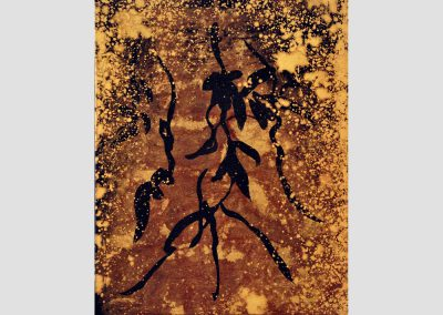Sombras en un jardín IV, 2012 Técnica mixta / lienzo. 41 x 33 cm.