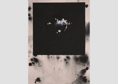 Diálogos en un sueño IV, 2019.Acrílico y pigmentos sobre cartón.70x52,5cm