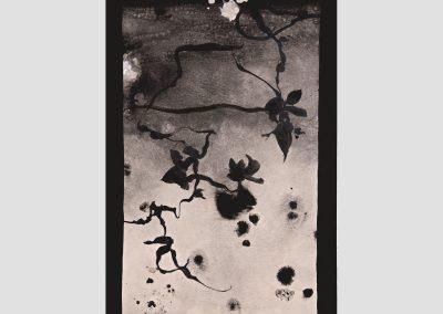 Dibujo de sombra IV 2019. Acrílico y pigmentos sobre cartón. 70x52,5cm
