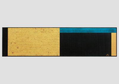 Horizonte, 2005-2006 Técnica mixta/madera. 40 x 162 cm.